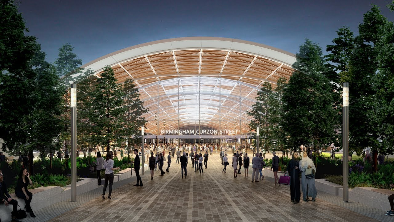 Trio shortlisted by HS2 Curzon Street station unveiled